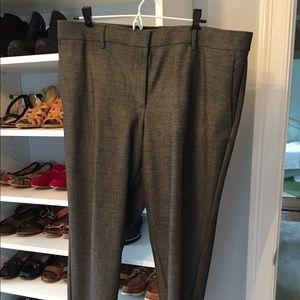Grey ankle length pants